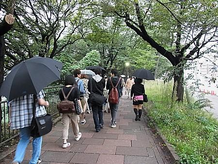 靖国神社から飯田橋