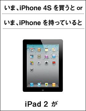 iPad2が貰えるキャンペーン