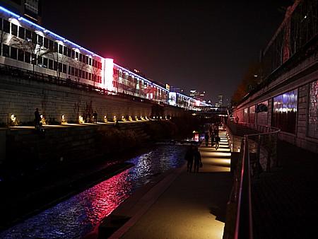 清渓川 ライトアップ