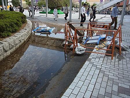 震災後の幕張
