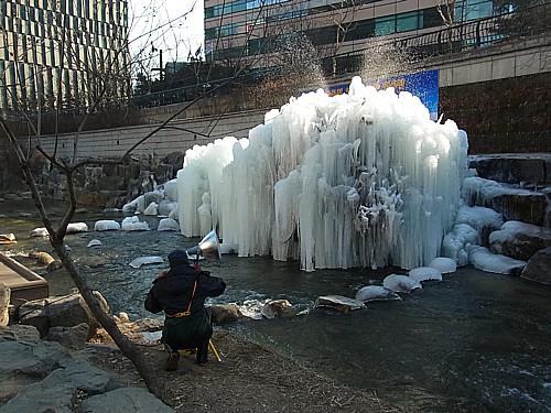 冬の清渓川
