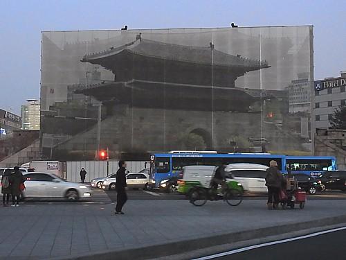 東大門改修中