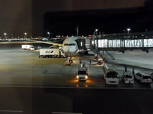羽田空港無事到着