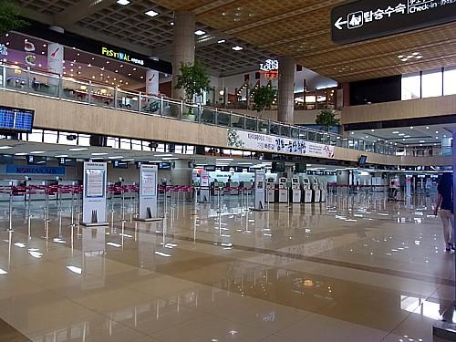 迷う金浦空港