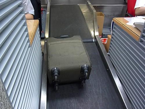 手荷物検査で止められた