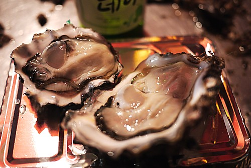 屋台で牡蠣