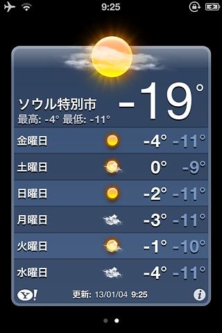ソウル気温
