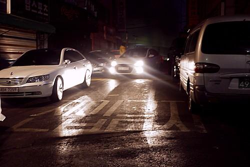 韓国の路上駐車