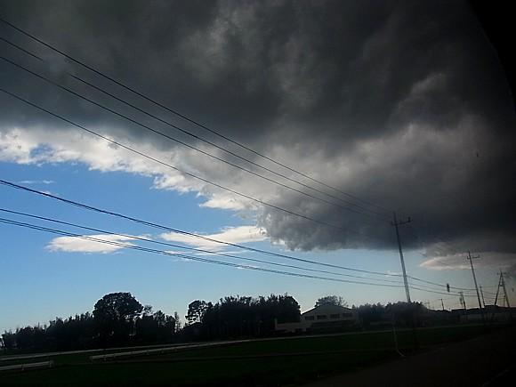 温帯低気圧の雲
