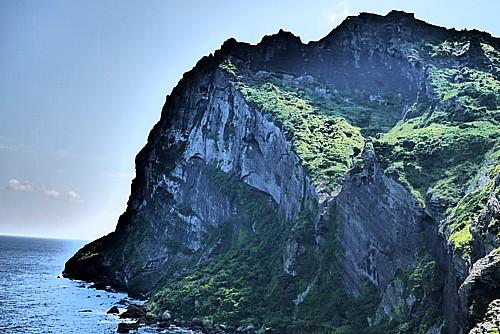 海底火山の跡