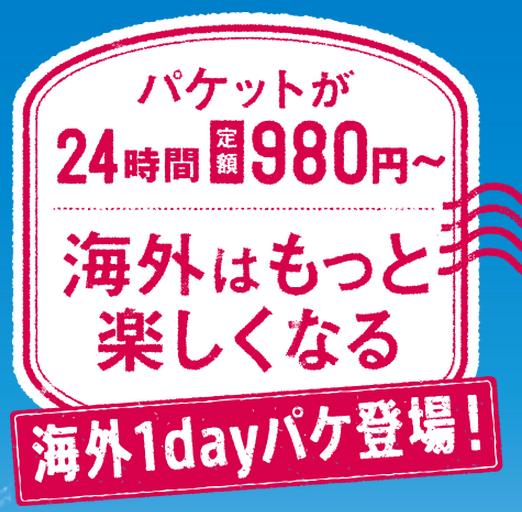 海外パケットが24時間980円