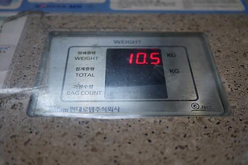 手荷物重量