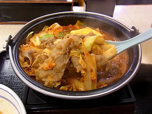 日本のキムチ鍋