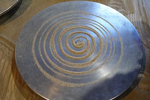 回転する円盤