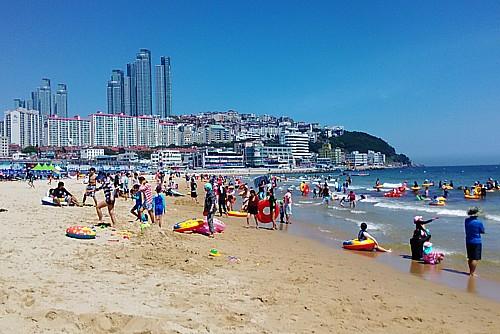 韓国海水浴