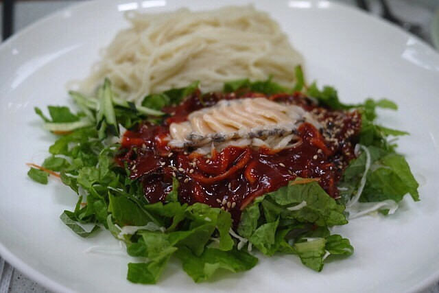 アワビ冷麺