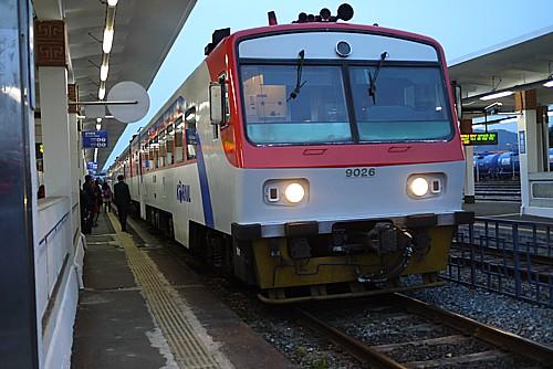 釜山行き列車