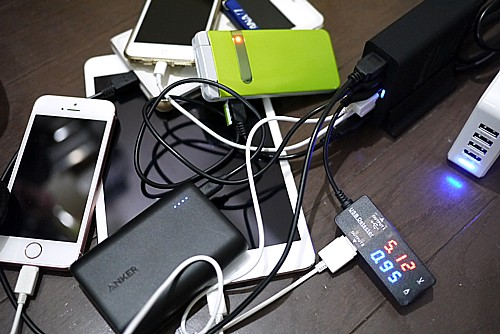 6ポート同時充電可能