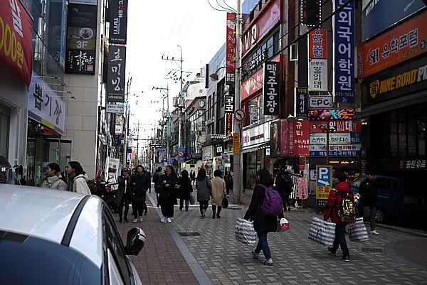 大邱市の繁華街