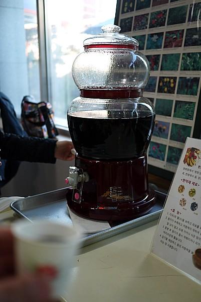 韓方茶の試飲