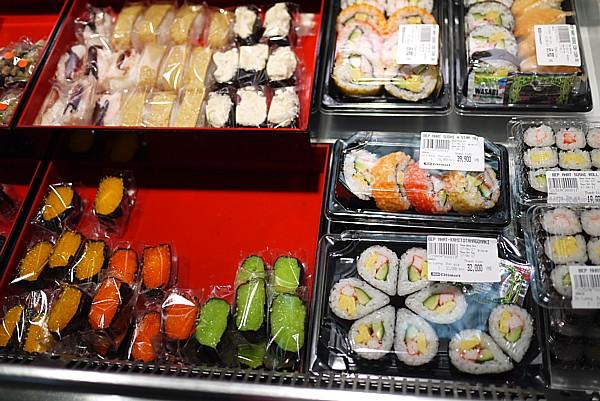 色鮮やかなお寿司
