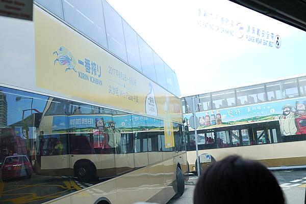 一番搾りの広告バス