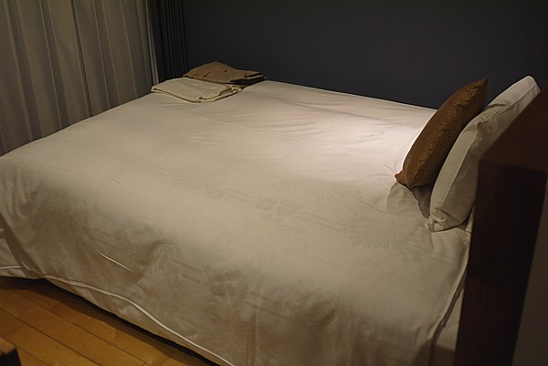 ベッドが広い
