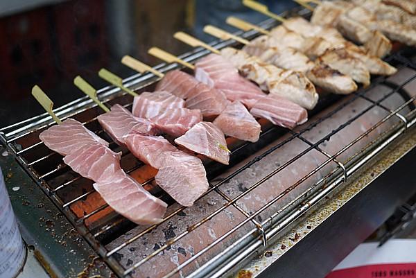 マグロ串焼き