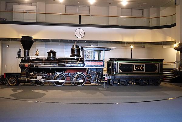輸入された蒸気機関車