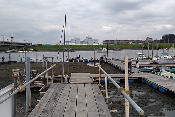 ハゼがよく釣れる江戸川放水路