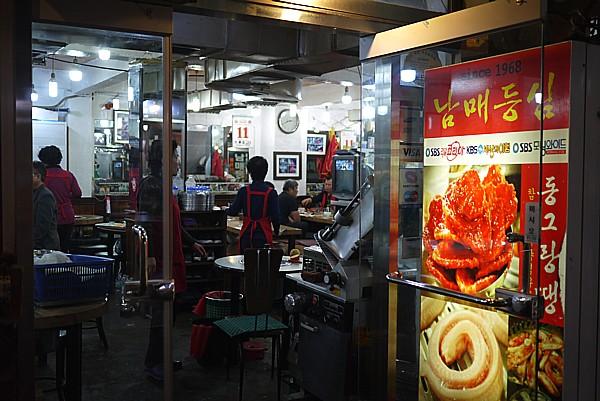 広蔵市場の焼肉店