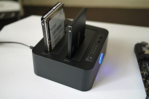 ineo USB3.1 Gen1 to SATAデュアルベイ
