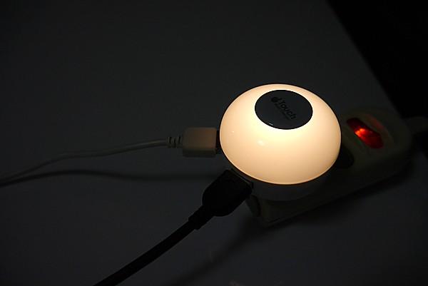 常夜灯にもなるUSBアダプター買った