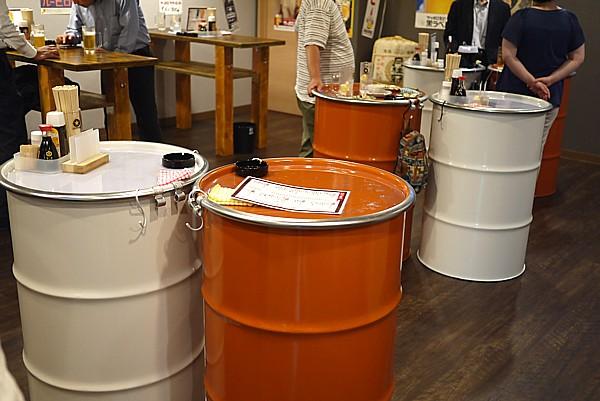 ドラム缶テーブル