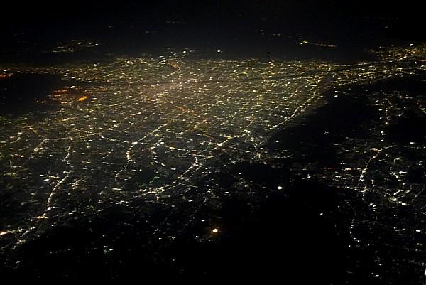 大阪市上空夜景