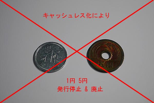 1円5円硬貨の廃止