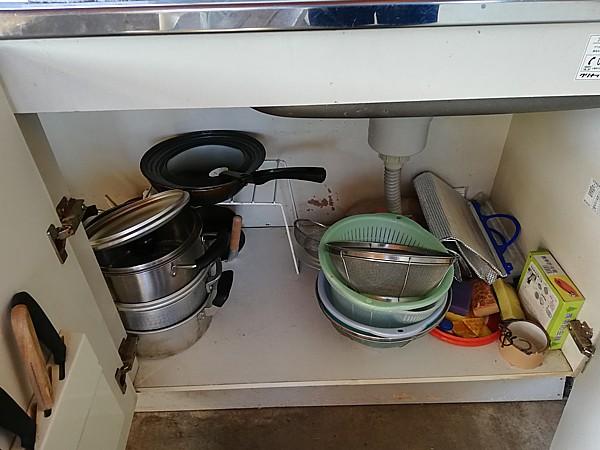 鍋、包丁あり